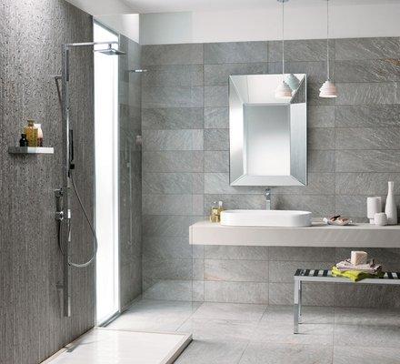 Rivestimenti bagno in gres porcellanato mirage - Bagno moderno grigio ...
