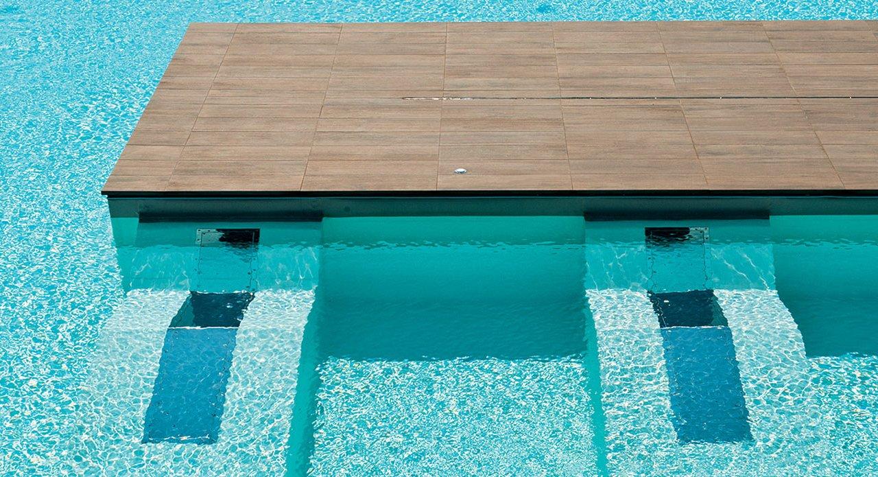 Carrelage pour piscine en gr s c rame evo 2 e mirage for Carrelage pour piscine