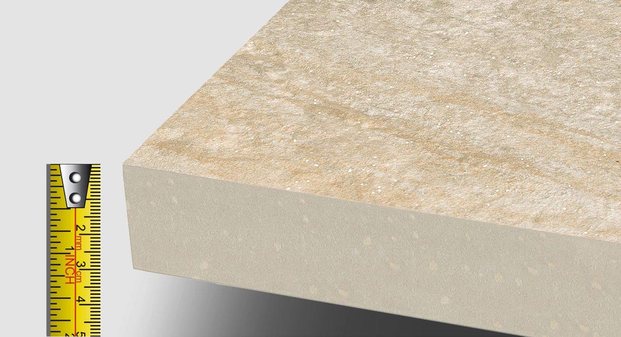 Lastre ceramica in spessore 30 millimetri mirage for Piastrelle 3 millimetri