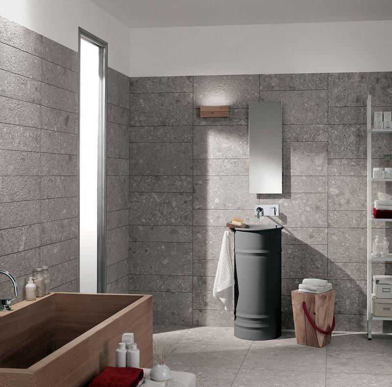 Rivestimento bagno effetto pietra collezione norr mirage - Rivestimento bagno in pietra ...