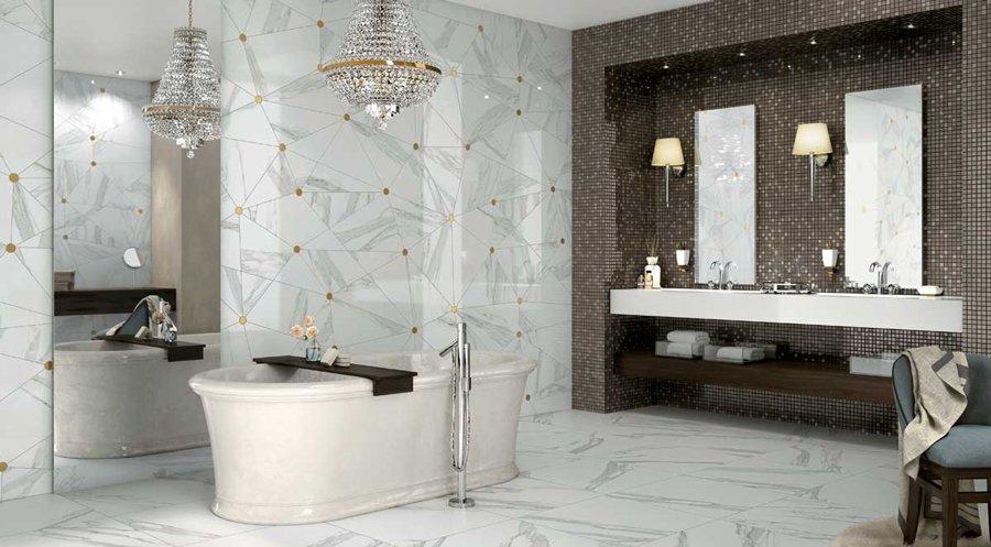 5 abbinamenti base per il pavimento e il rivestimento del tuo bagno