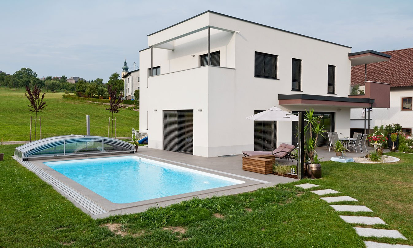 Villa con piscina a linz mirage for Progetto villa con piscina