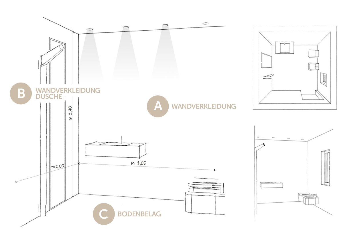 bodenbel ge f r ihr badezimmer mirage. Black Bedroom Furniture Sets. Home Design Ideas